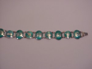 Siam Sterling Silver Turquoise enameled bracelet