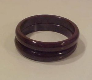 Pair of Brown  vintage bakelite bangles