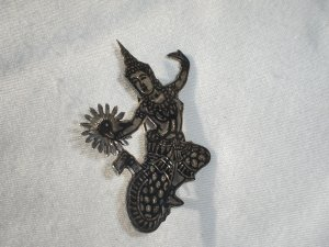 Thai Nakon Sterling Silver Pin  Siam figural Dancer