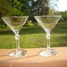 Libbey Stardust Martini Cocktail Glass Circa 1950's
