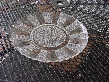 Jeannette Glass Dewdrop Sandwich Plate