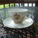Shelly China Cup Saucer Queen Victoria visit to Canada