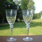 "Rogaska Gallia Wine Goblets  7 3/4"" tall"