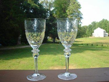 "Rogaska Gallia Wine Goblets  7 3/4"" tall"