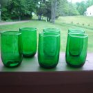 "Anchor Hocking Forrest Green Charm "" tumbler"