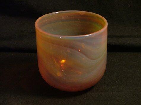 Art Glass Cup, Baker O'Brien, Labino Studios c.1991