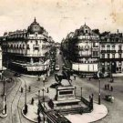 Vintage French Postcard, Orleans Place du Martroi et rue de la Republique, B/W Real Photo c.1941