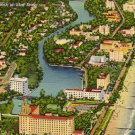 Vintage Florida Postcards, Aerial View of Miami Beach, Map of State, Pair c.1939