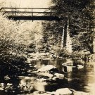 Parkman Ohio Postcard, Lower Bridge over Grand River, Black & White Real Photo c.1939