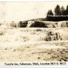 Eckerman Michigan Postcard, Tahquamenon River Falls, Black & White Real Photo c.1939