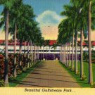 Hallandale Florida Postcard, Club House Entrance at Gulfstream Park c.1952