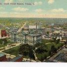 Toledo Ohio Postcard, Lucas County Court House, Full Color c.1929