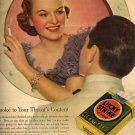 Lucky Strike Cigarettes Ad, Full Color c.1936
