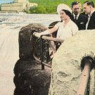 Niagara Falls Canada Postcard, Their Majesties Viewing Niagara Falls c.1939