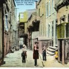 Vintage Quebec Postcards, Petite rue Sous-le-Cap, Sous-le Cap street, Pair c.1947