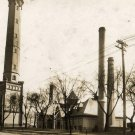 Toledo Ohio Postcard, Water Works Complex, Black & White Real Photo c.1912