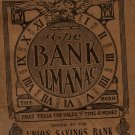 Antique Union Savings Bank Giveaway, Almanac, Toledo Ohio c.1912