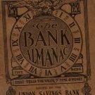 Union Savings Bank Giveaway, Almanac, Toledo Ohio c.1912