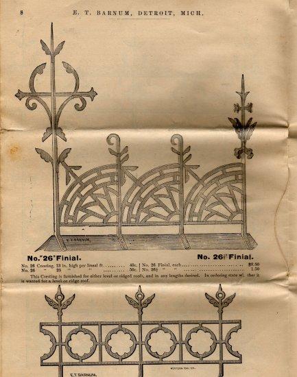 E.T. Barnum Wire and Iron Works Catalog, Detroit Michigan c.1883