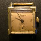 Vintage Valjean Watch, Baton Hands, Square Dial, Subsidiary Seconds, Runs Great c.1933