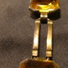 Art Deco Bracelet with Large Citrine Stones on GF Links c.1930