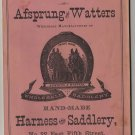 Afsprung & Watters Tack Catalog & Price List, Horse Reins, Harness & Saddlery c.1883