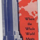 Vintage Empire State Building Observatories Pamphlet from New York World's Fair c.1939