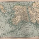 Map of Alaska, C.S. Hammond & Co. Atlas, Full Color c.1910