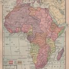 Map of Africa, C.S. Hammond & Co. Atlas, Full Color c.1910