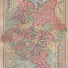 Map of Russia, C.S. Hammond & Co. Atlas, Full Color c.1910
