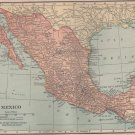 Map of Mexico, Full Color, C.S. Hammond & Co. Atlas c.1910