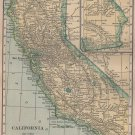 Map of California, C.S. Hammond & Co. Atlas, Full Color c.1910