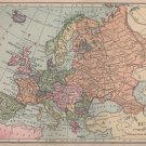Map of Europe, C.S. Hammond & Co. Atlas, Full Color c.1910