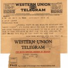 Western Union Telegram with Logo Letterhead and Envelope, Regarding Farewell Party Plans c.1926