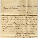 Letter & Affidavit to The Auditor, U.S. Treasury Dept. Regarding Fallen Civil War Soldier c.1863