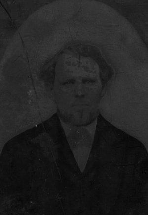 Civil War Era Tintype, Union Soldier in Frock Coat, 7 x 8 c.1863