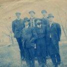Cyanotype Portrait Postcard, Men in Hats c.1907