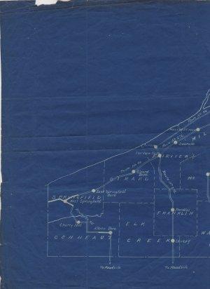Blueprint Railroad Route Map, Philadelphia & Erie RR, Conductor's Notes, Civil War Era c.1864