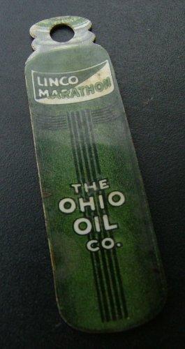 Ohio Oil Company Key Fob Giveaway, Art Deco Design c.1925