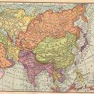 Map of Asia, Full Color, C.S. Hammond Atlas c.1910