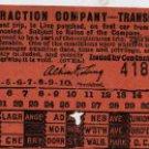 Toledo Traction Company Transfer Ticket, Railroad Receipt c.1897