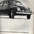 VW Bug Volkswagen Beetle Ad, Black & White c.1962