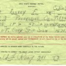 Vintage Ohio State Highway Patrol Warning Ticket, Failure to Stop c.1942