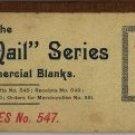 Commercial Receipt Book, Notes No. 547, The U.S. Mail Series c.1879