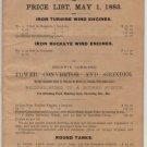Mast, Foos & Co. Metal Equipment Price List, Springfield Ohio c.1883