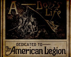 Army Cartoon Book, A Dogs Life, Dedicated to the American Legion c.1919