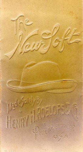 Henry H. Roelofs & Co. Ad Card, New Loft Men's Hat, Embossed c.1900
