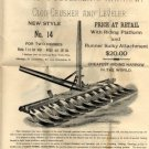 Acme Pulverizing Harrow Plow & Nash Farm Equipment Ads c.1891
