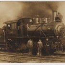 Hocking Valley Railway Postcard, Engine #122 & Crew c.1880