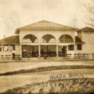 Toledo Ohio Postcard, Toledo Beach Concession Stand, Sepia Tone Real Photo c.1900